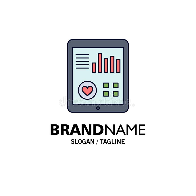 monitoring, health, heart, pulse, Patient Report Flat Color Icon Vector royalty free illustration