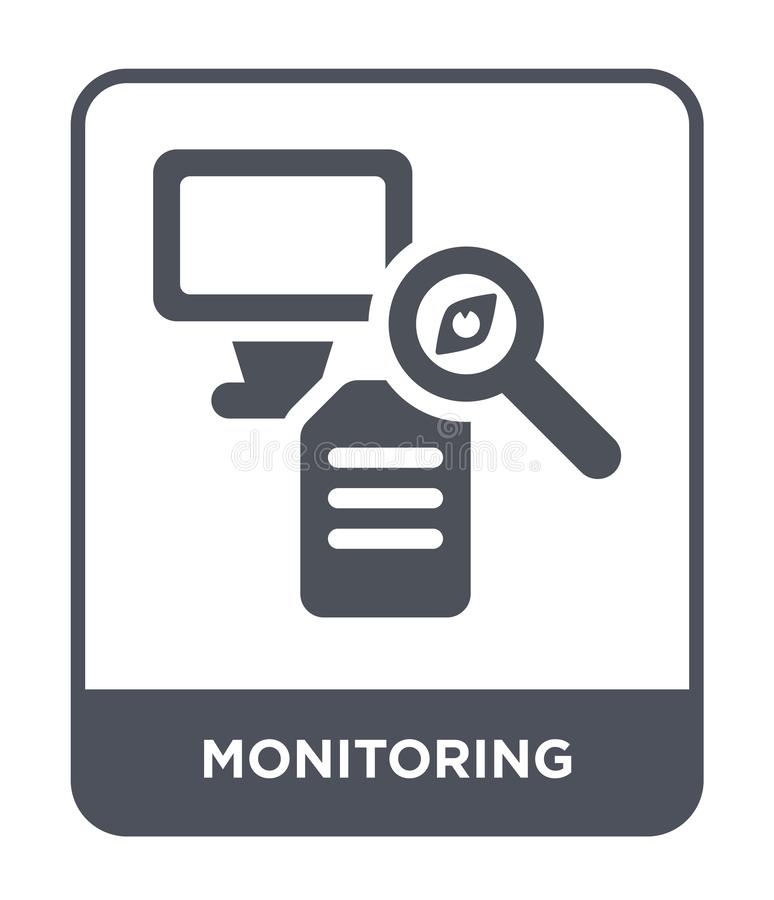 Monitoring icon in trendy design style. monitoring icon isolated on white background. monitoring vector icon simple and modern. Flat symbol for web site, mobile stock illustration