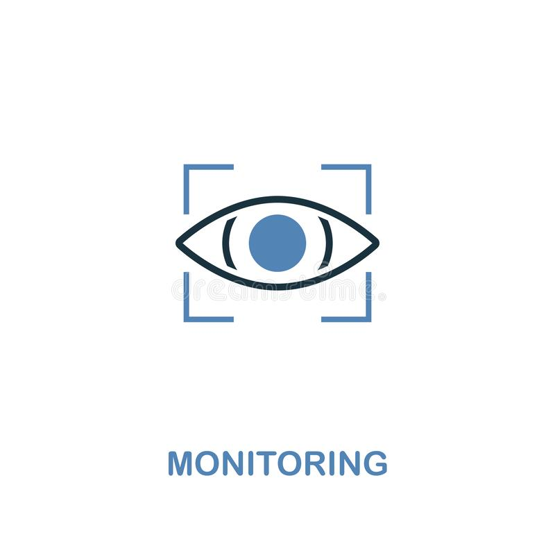 Monitoring icon in two colors. Premium design from internet security icons collection. Pixel perfect simple pictogram monitoring. Icon for web design and stock illustration