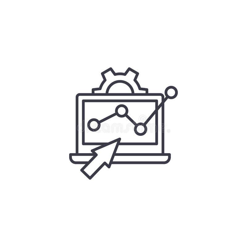 Monitorować trend ikony liniowego pojęcie Monitorowanie trendów linii wektoru znak, symbol, ilustracja ilustracja wektor