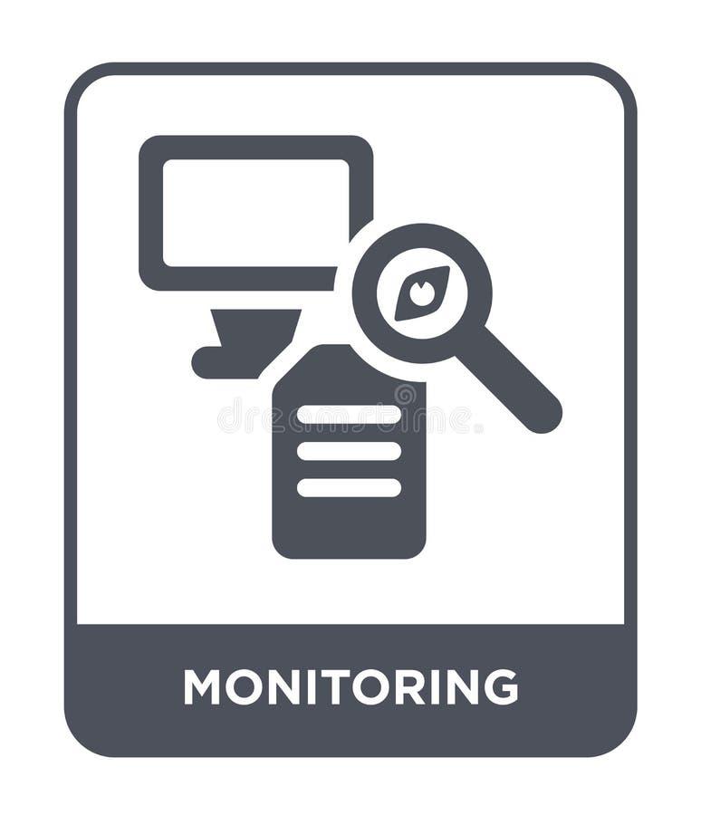 monitorowanie ikona w modnym projekta stylu monitorowanie ikona odizolowywająca na białym tle monitorowanie wektorowa ikona prost ilustracji
