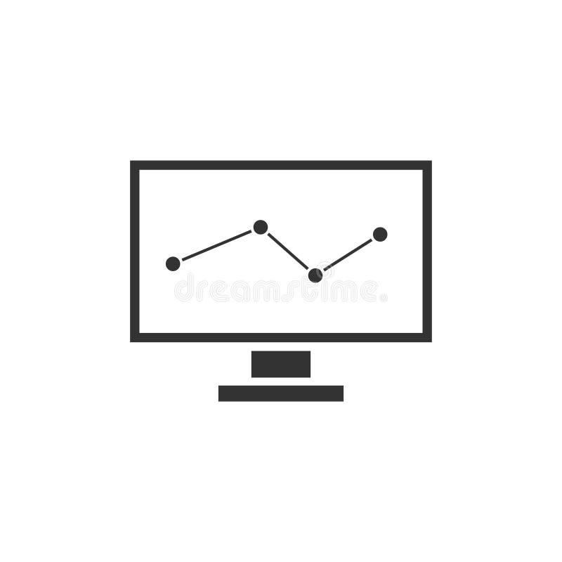 Monitorowanie ikony mieszkanie ilustracja wektor