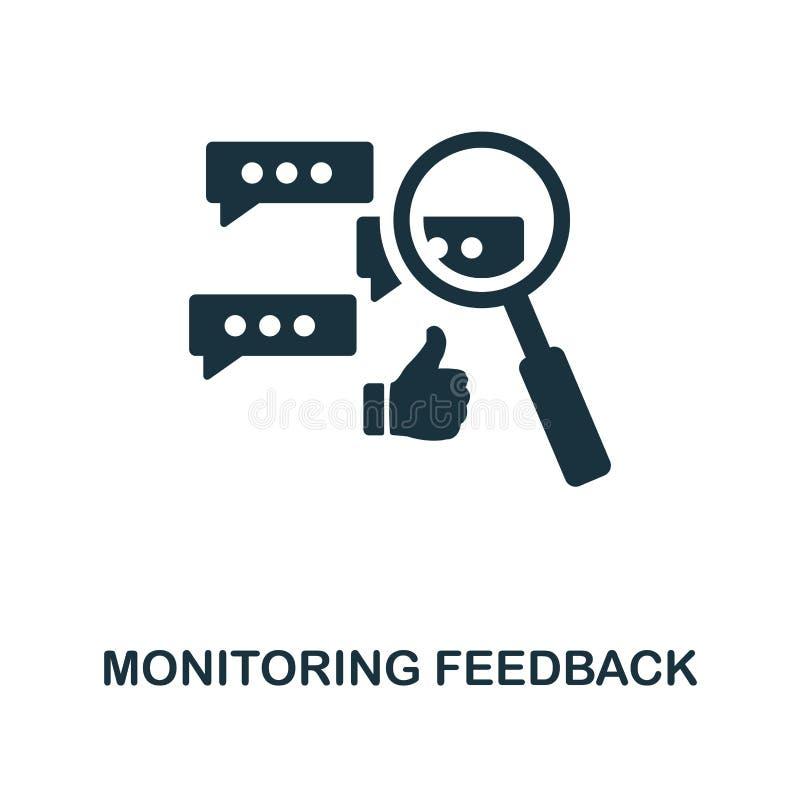 Monitorowanie informacje zwrotne ikona Monochrom ikony stylowy projekt od zarządzanie projektem ikony kolekcji Ui Ilustracja moni royalty ilustracja