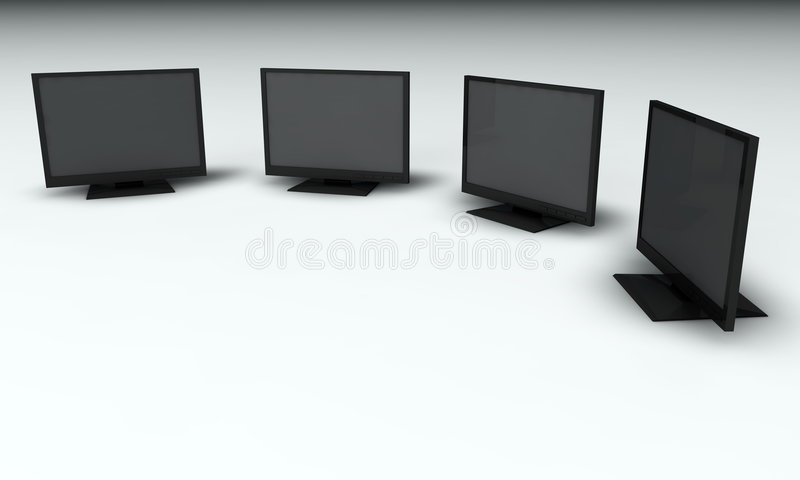 Monitors stock illustratie