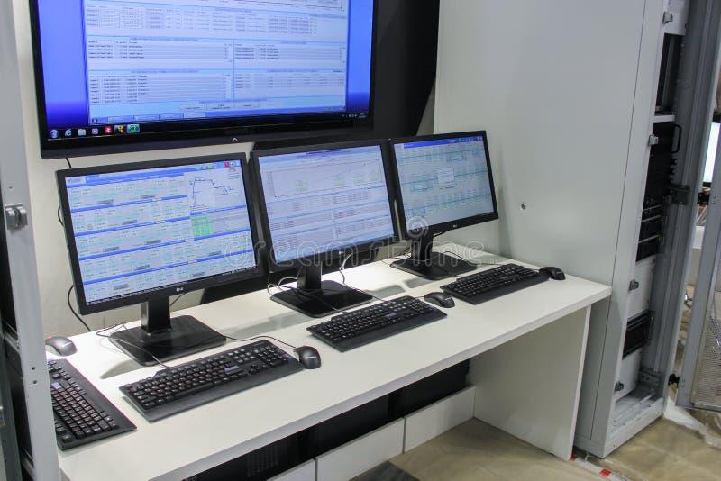 Monitors and servers. royalty free stock photos
