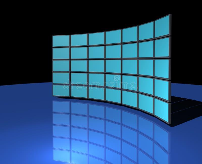 monitoru widescreen ścienny ilustracji