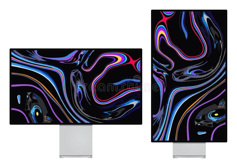 Monitoru xdr siatkówki 6K pokaz royalty ilustracja