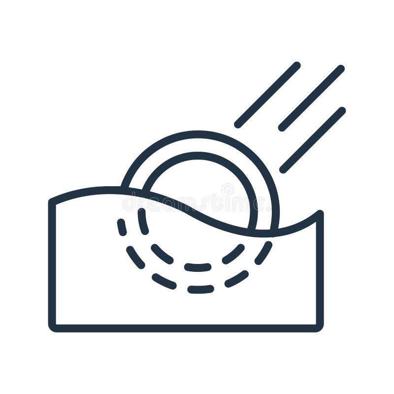 Monitoruje ikona wektor odizolowywającego na białym tle, monitoru znak ilustracji