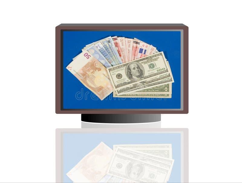 monitory pieniędzy royalty ilustracja