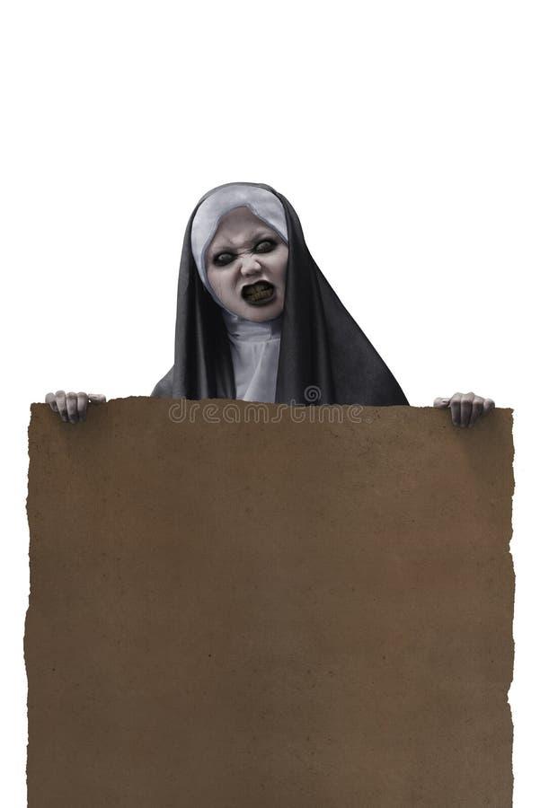 Monja asustadiza del diablo imagen de archivo libre de regalías