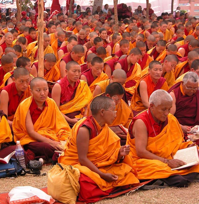 Monjas budistas imagen de archivo