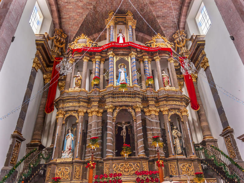 Monjas San Miguel de Allende Mexico de la Inmaculada Concepción del convento del altar imágenes de archivo libres de regalías