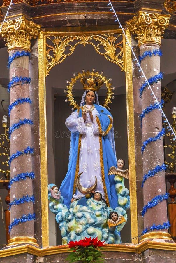 Monjas San Miguel Mexico de Mary Statue Convent Immaculate Conception fotografía de archivo