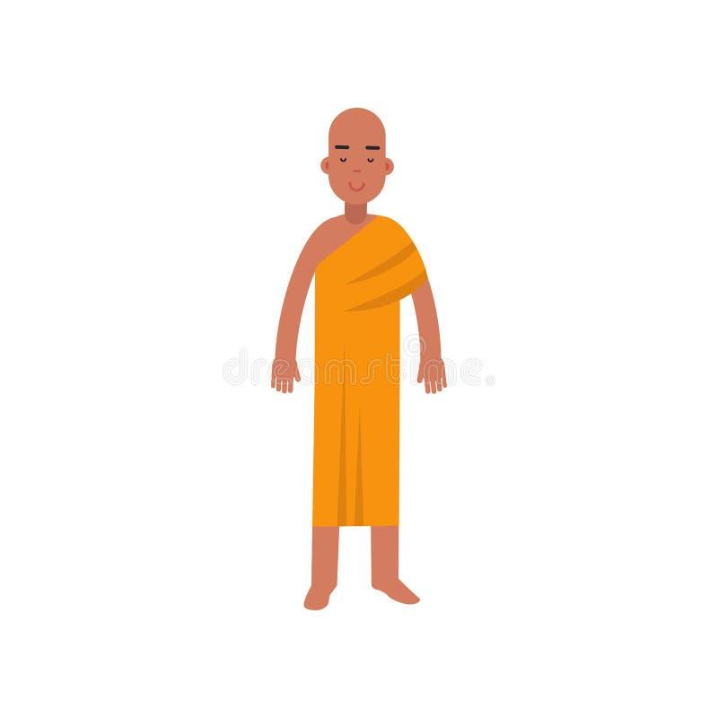 Monje budista, ejemplo representativo del vector de la religión libre illustration