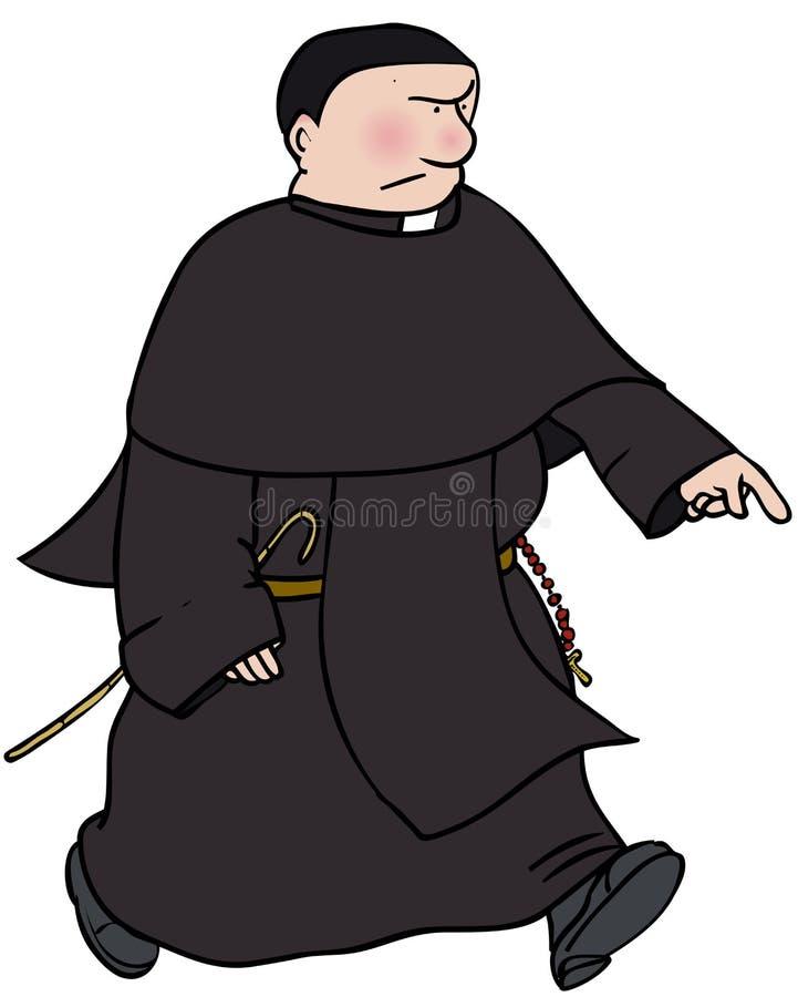 Monje católico stock de ilustración