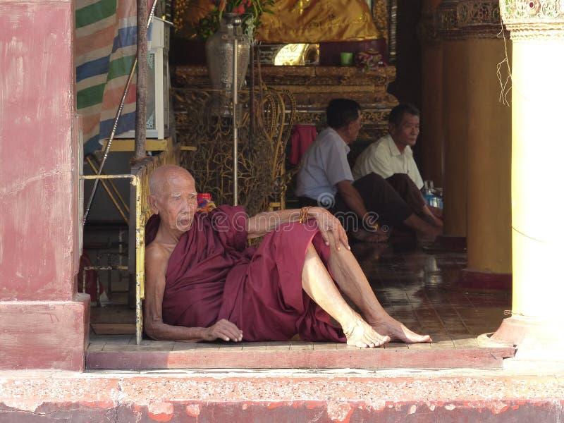 Monje de Birmania imagen de archivo libre de regalías