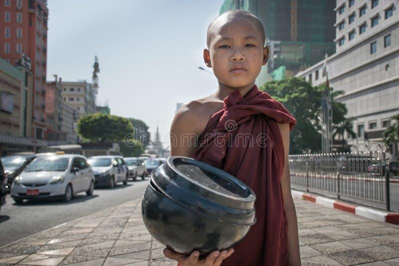 Monje de Myanmar imágenes de archivo libres de regalías
