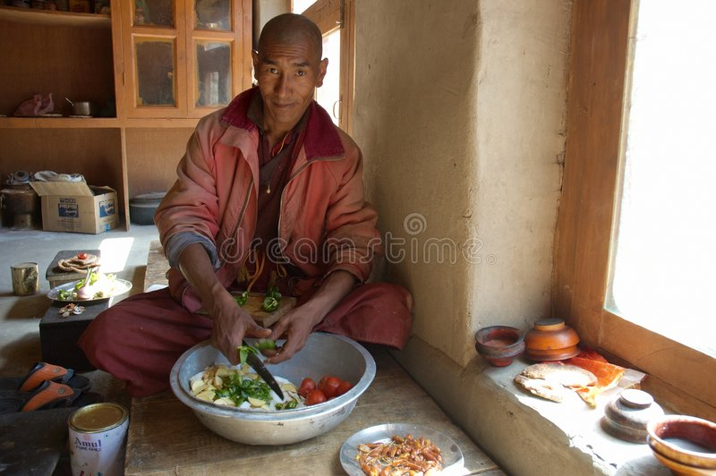 Monje de Tíbet imagenes de archivo
