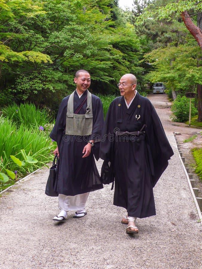 Monje del templo de Toshodaiji fotos de archivo