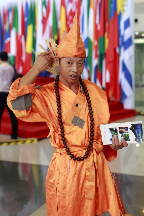 Monje enojado del monje de Jigong fotografía de archivo libre de regalías