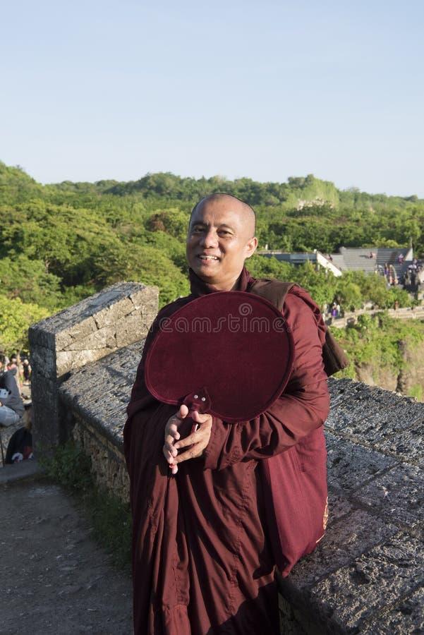 Monje Myanmar foto de archivo libre de regalías