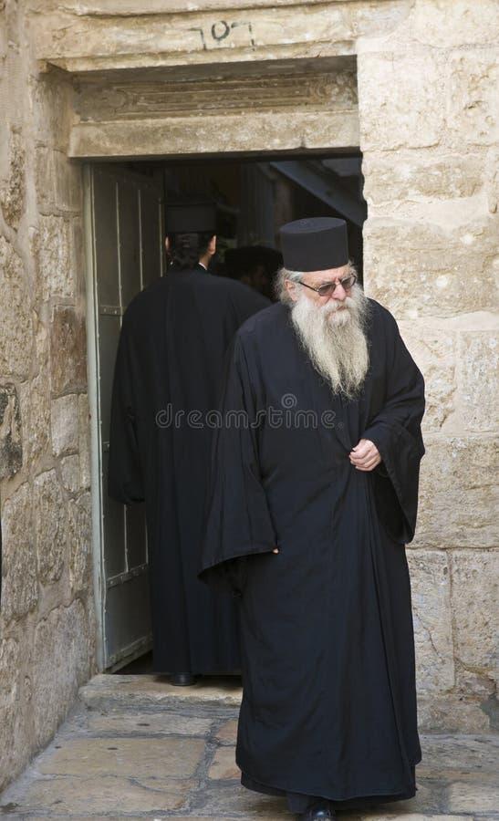 Monje ortodoxo griego fotografía de archivo
