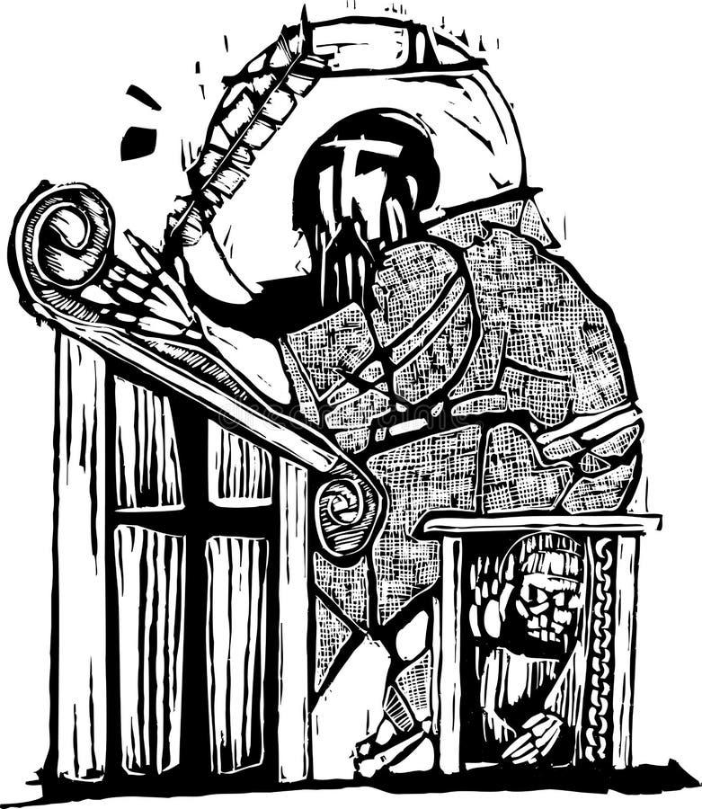 Monje Scribe libre illustration