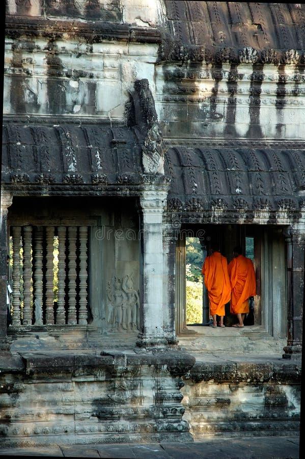 Monjes budistas imagen de archivo