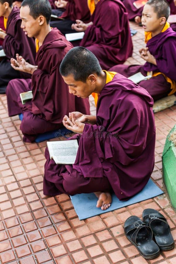 Download Monjes budistas foto editorial. Imagen de leído, monasterio - 42435016