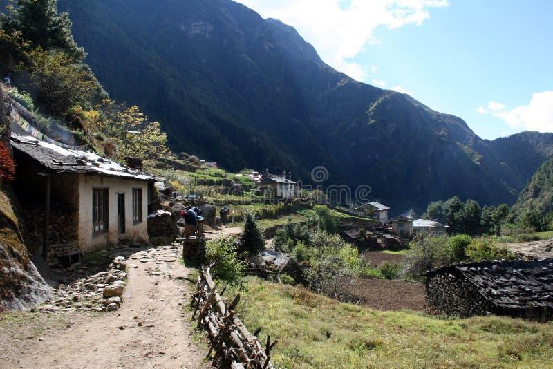 Monjo, Nepal immagini stock libere da diritti