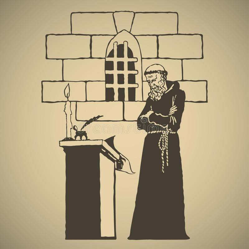 monk ilustración del vector