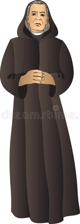 monk ilustração stock