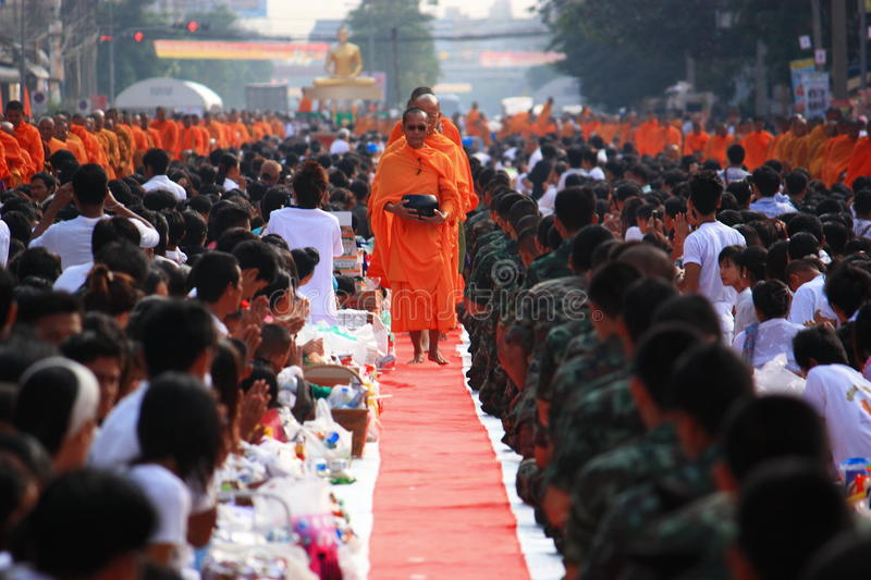 Monk and Buddhist royalty free stock image