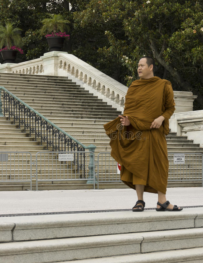 Monk buddhist portrait stock photography