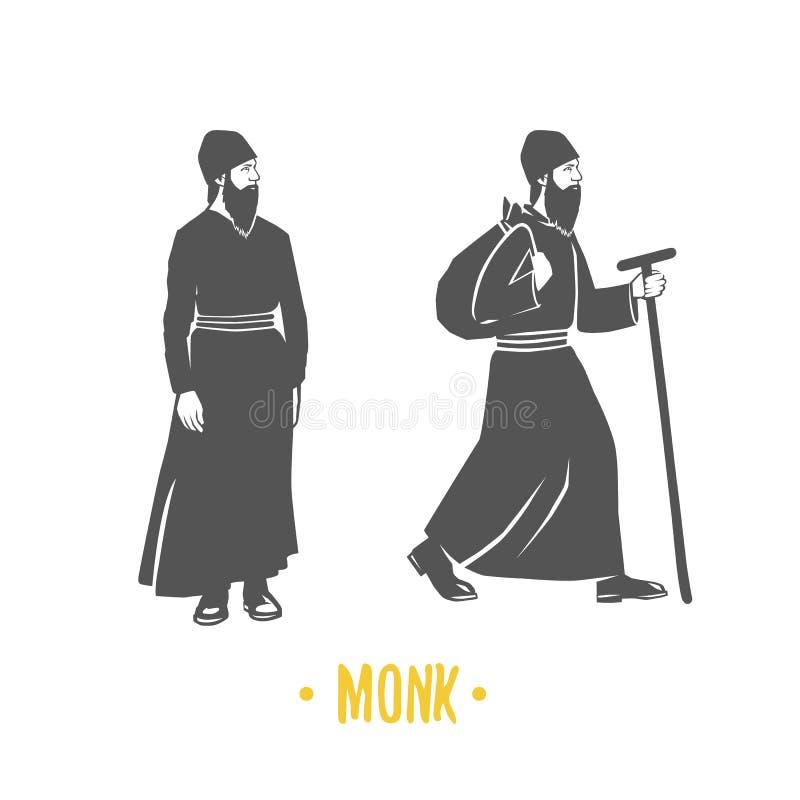 monk fé christianity orthodoxy ilustração stock
