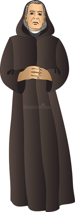 Monk stock illustration