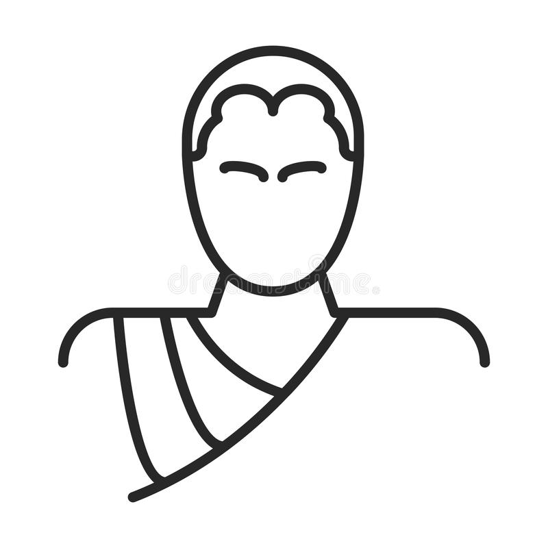 Monk icon. In simple outline style. This icon are perfect for your websites and applications stock illustration