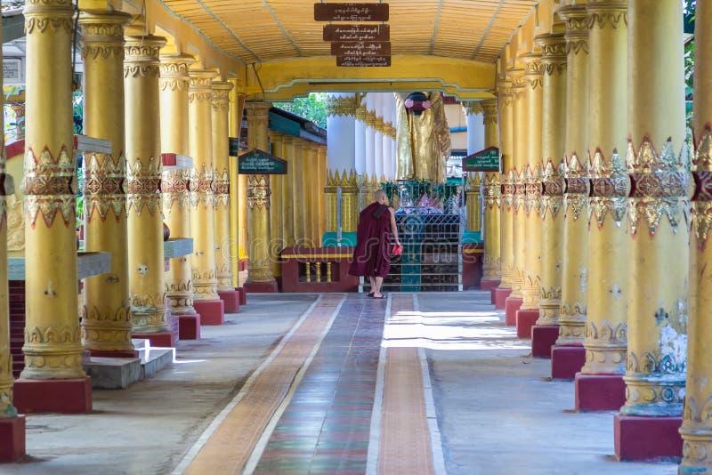Monk At Kyaly Khat Wai Monastery  ,  Bago In Myanmar (Burmar) Editorial Stock Photo