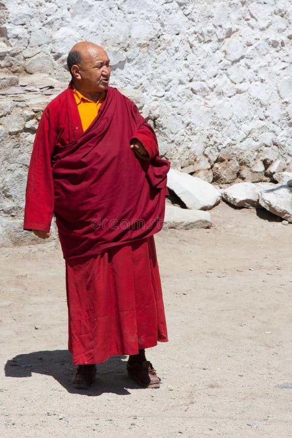 Monk in Leh stock photography