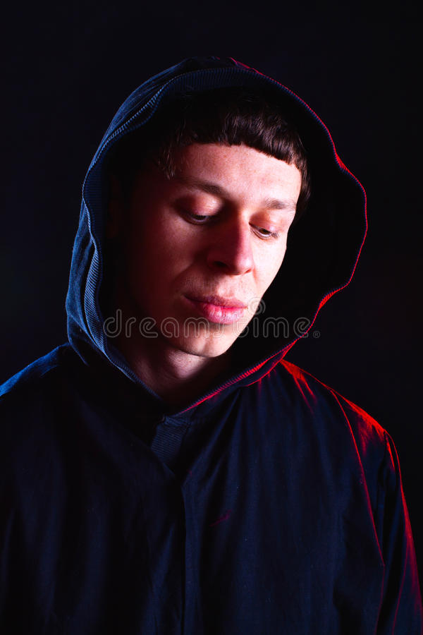 Monk lost in thought royalty free stock photography