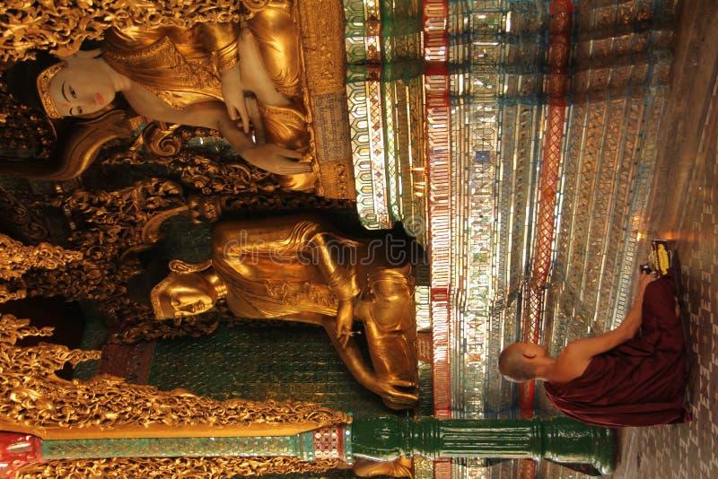 Monk in meditation