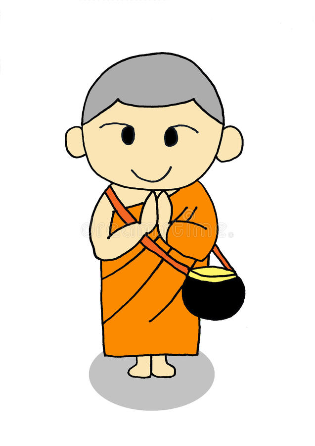 Monk royalty free stock photo