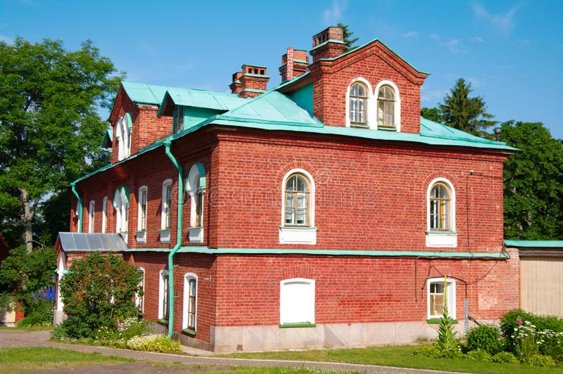 Monk residence in Valaam royalty free stock photo