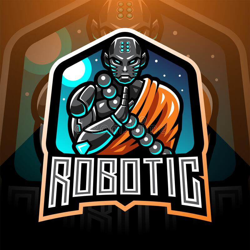 Free Monk Robotic Esport Mascot Logo Royalty Free Stock Photo - 184537605