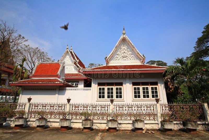 Monk's house at Chalerm Prakiat temple stock photo