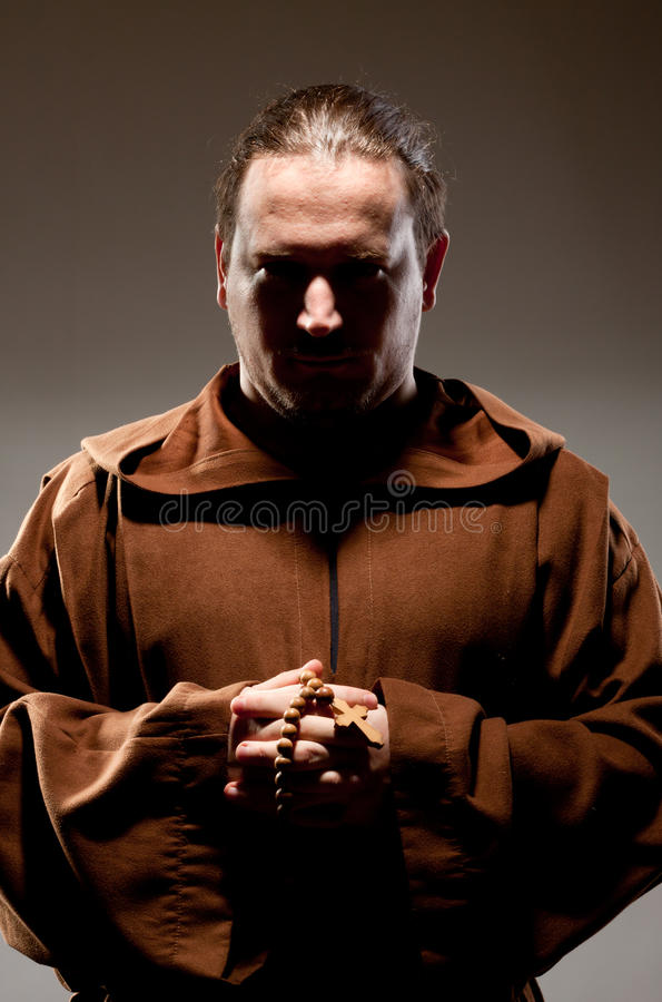 Download Monk in shadow stock photo. Image of dark, hope, christianity - 19721170