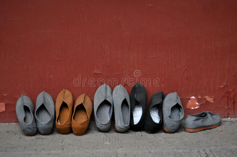 Download Monk Shoes stock photo. Image of traditional, monk, buddhism - 26881778