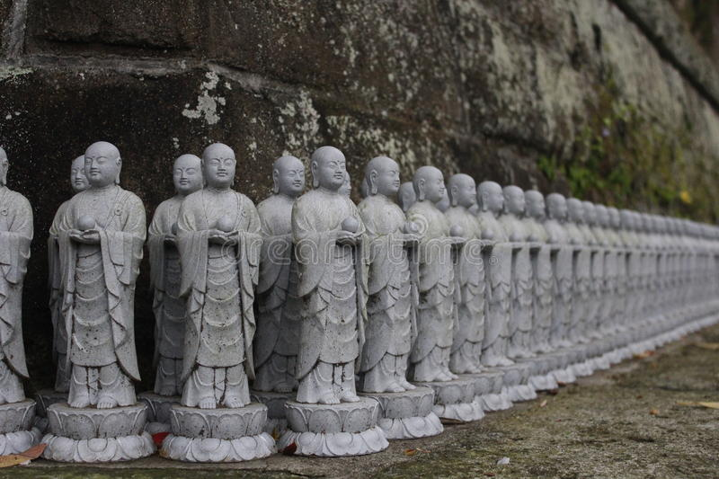 Monk statue stock images