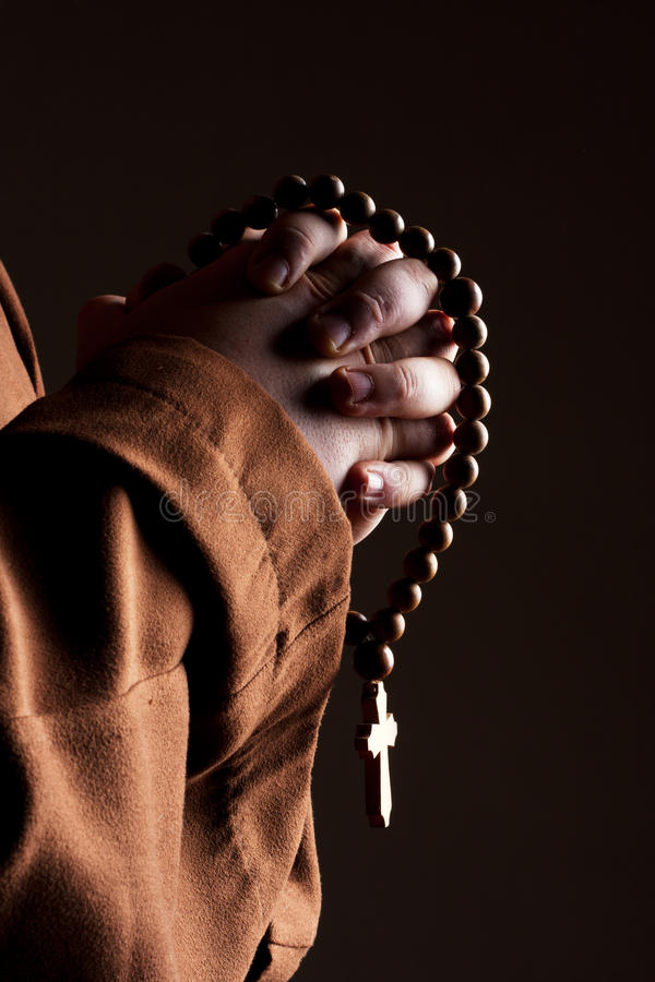 Download Monk With Two Hands Clasped In Prayer Stock Photo - Image: 19721158