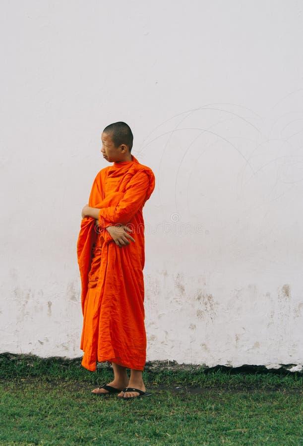 Monk. A young monk in Bangkok, Thailand